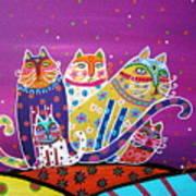 5 Cats Art Print