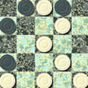 Checkerboard Generated Seamless Texture Art Print