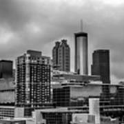 Downtown Atlanta, Georgia Usa Skyline Art Print