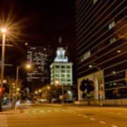 Downtown Tampa Florida Skyline At Night Art Print