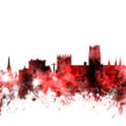 Durham England Skyline Cityscape Art Print