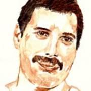 Freddie Mercury Portrait Art Print