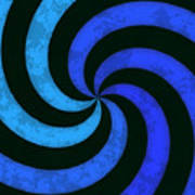 Grunge Swirl Art Print