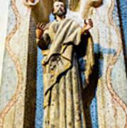 Interior Statue - San Xavier Mission - Tucson Arizona Art Print