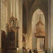 Interior View Of Namur Cathedral Art Print