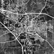 Iowa City Map Art Print