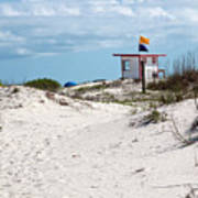 Jetty Park On Cape Canaveral In Florida Art Print