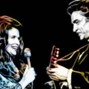 June Carter And Johnny Cash Collection Art Print