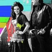 June Carter Cash Johnny Cash In Costume Old Tucson Az 1971-2008 Art Print