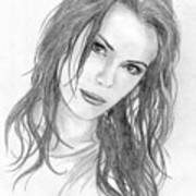 Miss Beckinsale  Art Print