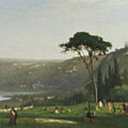 Lake Albano Art Print