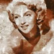 Lana Turner Vintage Hollywood Actress Art Print