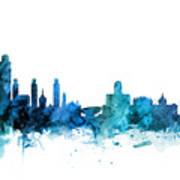 Lincoln Nebraska Skyline Art Print