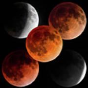 5 Moons Art Print