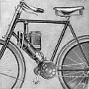 Motorcycle, 1895 Art Print