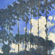 Poplars On The Epte Art Print