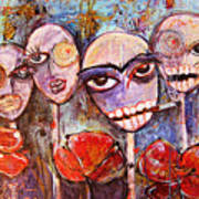 5 Poppies For The Dead Art Print