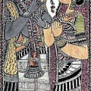 Radha Krishna Color Art Print