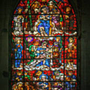 Stained Glass At The Manizales Cathedral In Colombia Art Print
