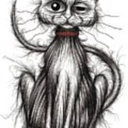 Stinker The Cat Art Print