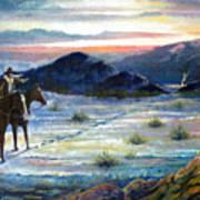 Texas Rangers On His Trail Art Print