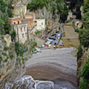 This Is A View Of Furore A Small Village Located On The Amalfi Coast In Italy  Art Print