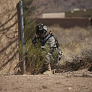 U.s. Soldier Conducts A Combat Training Art Print