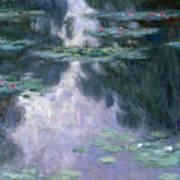 Waterlilies Print by Claude Monet