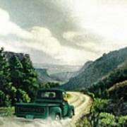 '50 Chevy Pickup In Unaweep Canyon Art Print