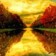 Painters Landscape Art Print