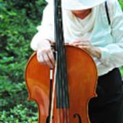 Female Cellist. Art Print