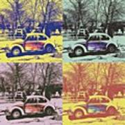 Old Beetle-pop Art Art Print