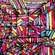Jugglery Of Colors Art Print