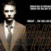 5499 Fight Club Hd S Black Art Print