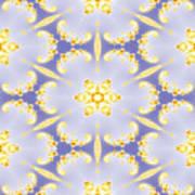 Fractal Floral Pattern Art Print