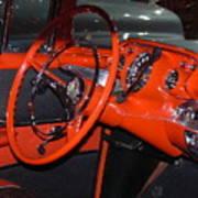 57 Chevy Bel Air Interior Art Print