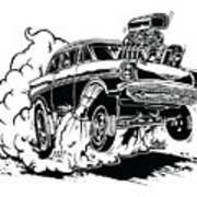 '57 Gasser Cartoon Art Print