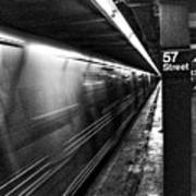 57th Street Platform Art Print by Barry C Donovan