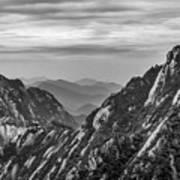 5818- Yellow Mountains Black And White Art Print