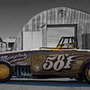 581 Bonneville Race Car Art Print