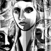 595 -  A Face A ... Art Print