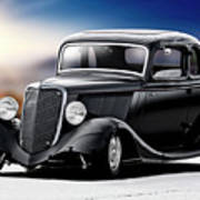 1934 Ford Five-window Coupe Art Print