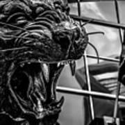 Black Panther Statue Art Print