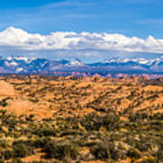 Canyon Badlands And Colorado Rockies Lanadscape Art Print