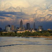 Cleveland Skyline From A Distant Park Art Print