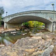 Downtown Of Greenville South Carolina Around Falls Park Art Print
