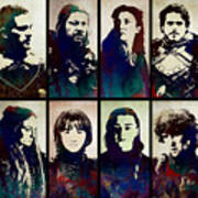 Game Of Thrones. House Stark. Art Print