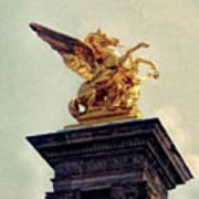 Pegasus In Paris Art Print