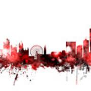Manchester England Skyline Art Print