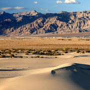 Mesquite Sand Dunes In Death Valley National Park Art Print